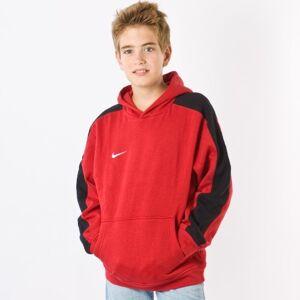 Nike - Team, Felpa in pile con cappuccio per bambini, Rosso/Nero/Bianco, XL
