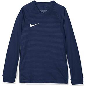 Nike Bambini Tiempo Premier Maglietta, Bambini, Blu (Midnight Navy/White), L