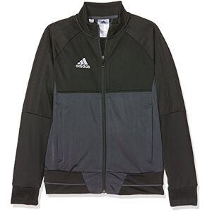 Adidas Tiro 17 PES Jacket Youth, Giacca Bambino, Nero (Nero/Grigio/Bianco), 164