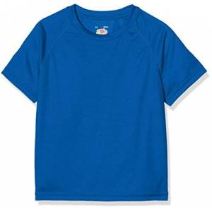 Fruit of the Loom New Kids Sport, T-Shirt Bambino, Blu (Royal Blue), 8 Anni (taglia Produttore: 30)
