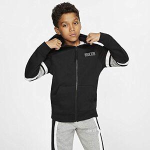 Nike B Nk Air Hoodie FZ, Felpa Bambino, Black/Dk Grey Heather/White/White, XS