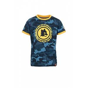 AS Roma T-Shirt Girocollo Bambino, Deep Water Camu, 14