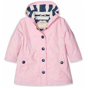 Hatley Splash Jackets Giacca Impermeabile, Classic Pink & Navy, 6 anni Bambina
