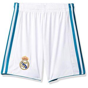 Adidas Real Madrid H SHO Y, Pantaloncini Bambino, Bianco (Bianco/Azzurro), 164