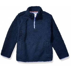 Amazon Essentials Quarter-Zip High-Pile Polar Fleece Jacket Outerwear-Jackets, Washed Navy, 3T
