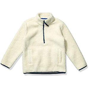 Amazon Essentials Quarter-Zip High-Pile Polar Fleece Jacket Outerwear-Jackets, Naturale, X-Small