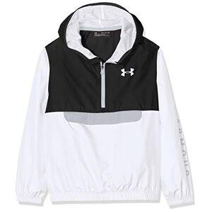 Under Armour Packable 1/2 Zip Jacket, Felpa Bambino, Nero (Black / / White), L
