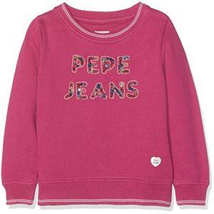 Pepe Jeans Amadea Felpa, (Rosso 389), 8 Anni Bambina