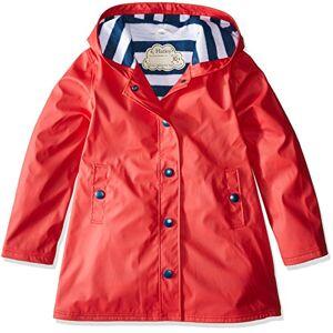 Hatley Splash Jackets Giacca impermeabile, Rosso e blu navy, 10 anni Bambina