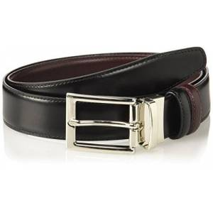Brooks Brothers Belt Rvrsble Black/Burg Cintura, Nero (Dark Red 605), 85 (Taglia Produttore:32) Uomo