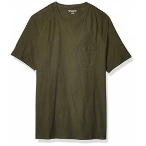 Amazon Essentials - T-shirt girocollo da uomo, con maniche raglan, aderente, Verde, S