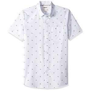 Goodthreads Marchio Amazon - Goodthreads, camicia da uomo a maniche corte, vestibilit standard, in tessuto dobby, Blu (Light Blue Paisley Pai), US XS (EU XS)