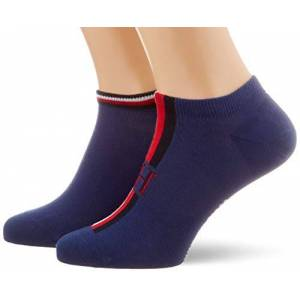Tommy Hilfiger TH Men Sneaker 2p Iconic Stripe Calze, Blu (Bright Blue 004), 39/42 (Taglia Produttore: 39) Uomo