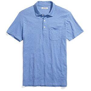 Goodthreads Marchio Amazon - Goodthreads Short-Sleeve Slub Polo, Moonlight Blue, S