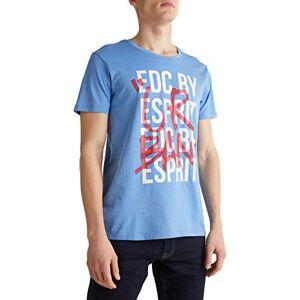 Esprit edc by Esprit 030cc2k304 T-Shirt, Blu (440/Light Blue), S Uomo