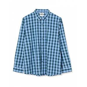 Goodthreads Slim-Fit Long-Sleeve Large-Scale Check Shirt Camicia, Verde (Blue/Green), Small
