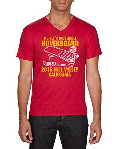 touchlines hoverboard t-shirt, rosso (red 08), medium uomo