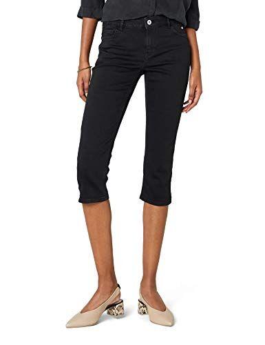 Esprit edc by Esprit 038cc1b009, Jeans Slim Donna, Nero (Black Rinse 910), W28 (Taglia Produttore: 28)
