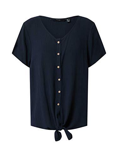 Vero Moda VMNAOMI Tie Front SS Shirt Color T, Sepia Rose, XS Donna
