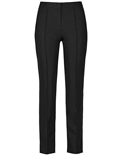 weber gerry weber 220025-38230 pantaloni, nero (schwarz 11000), l31 (taglia produttore: 44) donna