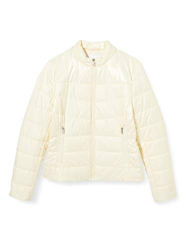 calvin klein jeans padded moto jacket giacca, winter white, l donna