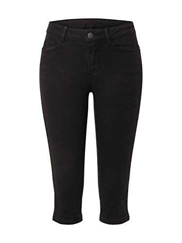Vero Moda VMHOT Seven Nw DNM Slit Knicker Color Jeans, Nero, XS Donna