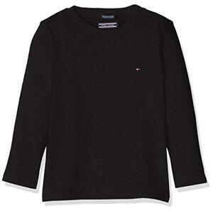 Tommy Hilfiger Boys Basic CN Knit L/s Maglietta, Nero (Meteorite 055), 164 (Taglia Produttore: 14) Bambino