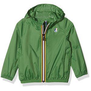 K-Way K0073G0, Giacca con Cappuccio Unisex-Bimbi, Verde (Green Md), 86 (Taglia produttore:18)