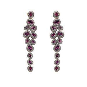Brumani Orecchini da Donna Oro Rosa 18 carati Granato Rosso Ovale