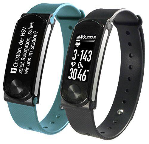 sportplus, activity tracker q-band hr + , fitness tracker con display oled per ios e android con cardiofrequenzimetro, unisex
