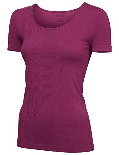 Schiesser Sport Shirt 1/2 Maglia Termica Donna, Rosso (Beere 512) 44 (Taglia Produttore: 038)