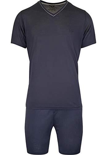 Hom - Uomo - Pigiama Corto 'Relax' - 2-Set Sonno Moda di Alta qualit - Navy - XL
