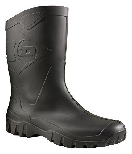 dunlop protective footwear dunlop dee, stivali di gomma da lavoro unisex-adulto, nero (black 002), 39 eu