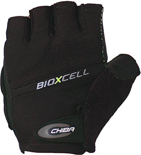 rio chiba bioxcell - guanti per sedia a rotelle, nero (nero), xl