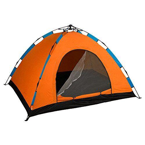 aktive-tenda campeggio igloo 200x 150cm-3persone, automontable e colore: arancione, 85077