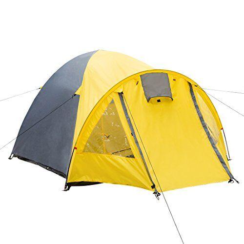 ultrasport arizona tenda a cupola da campeggio per 3 persone, impermeabile fino a 2000 mm, ingresso coperto, interno traspirante, con picchetti, aste fibra di vetro e corde, 300 x 180 x 125 cm