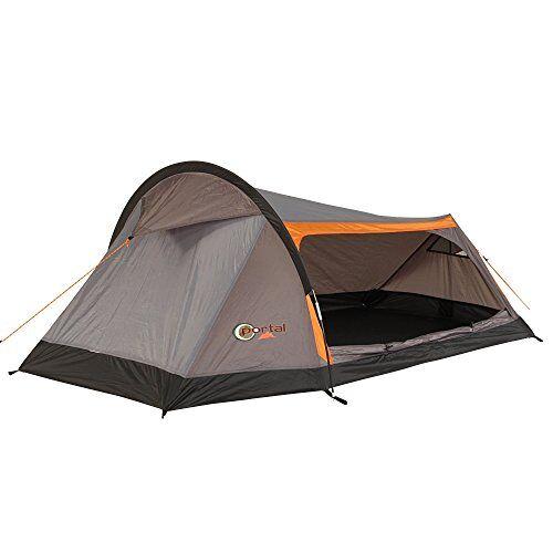 portal apus 2,tenda da campeggio a tunnel, con camera per 2persone, tenda da trekking con ampio ingresso laterale, impermeabile con 2000mm di colonna d'acqua