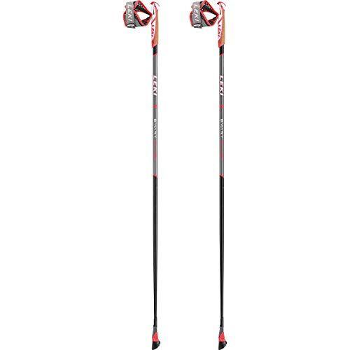 leki bastoncini trekking smart flash, schwarz-rot-wei, 125cm