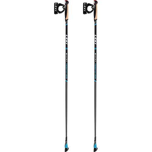 leki bastoncini trekking smart response, cyan-schwarz-wei, 110cm