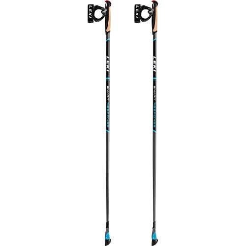 leki bastoncini trekking smart response, cyan-schwarz-wei, 105cm