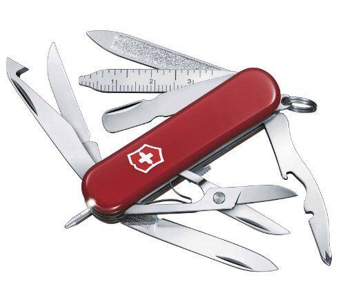 victorinox - coltellino multiuso 58mm - midnite minichamp con led bianco v-0.6386