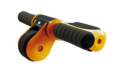 sveltus ab roller dispositivo addominale unisex adulto, arancio e nero