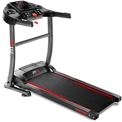 fitfiu fitness mc-200 - tapis roulant max 14 km/h pieghevole compatto sensore cardiaco,1500w
