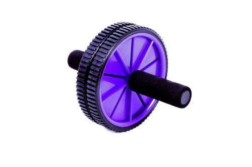 fa sports fit - ab roller & wheeltrainer, nero/viola, 18,5x18,5x23,5 cm