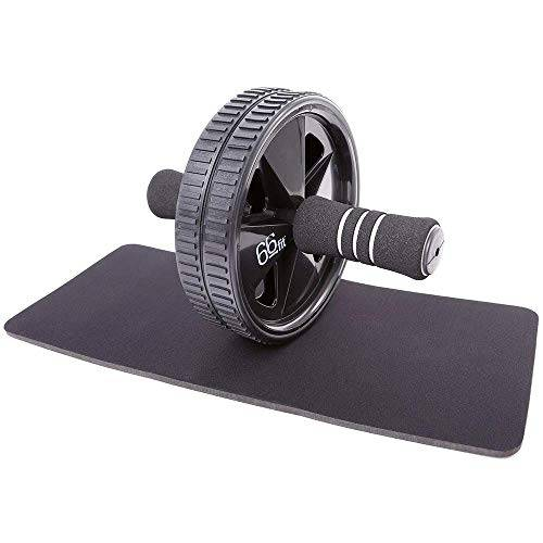 66fit ab roller wheel & knee pad - abs core abdominal workout fitness exerciser