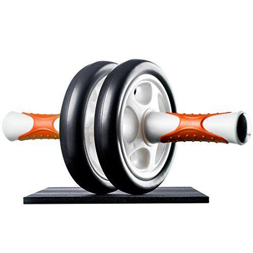 ultrasport attrezzo per addominali ab roller/trainer ab supporto per le ginocchia, allenamento addominali per uomini, donne e persone anziane, trainer muscolare pieghevole, taglia unica, arancione