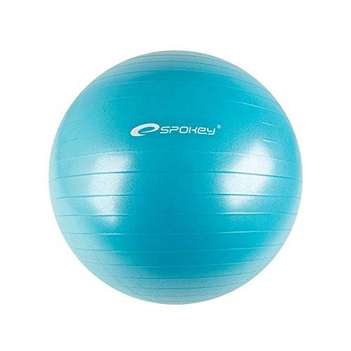 spokey fitball ii abs fitness palla da ginnastica, unisex, 838334, turquoise, 75 cm