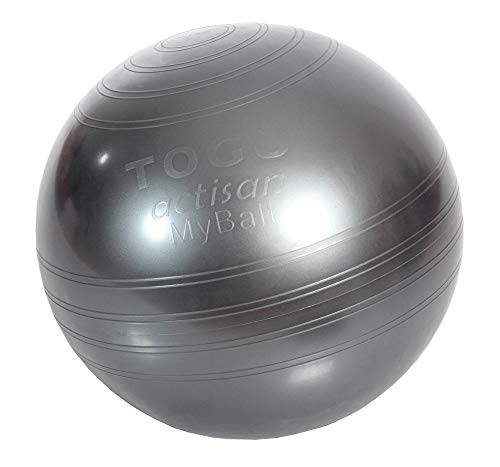 togu, palla da fitball sitz- und myball 55 mit actisan, grigio (anthrazit), taglia unica