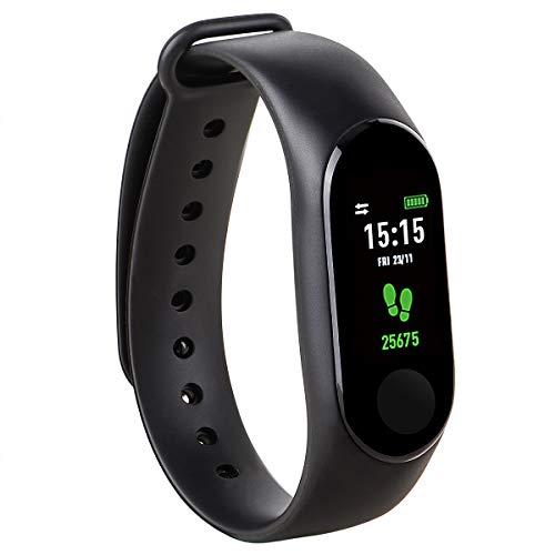 kounga fitpro tonic activity tracker con cardiofrequenzimetro, contapassi, calorie e sonno intelligente band, smart watch.