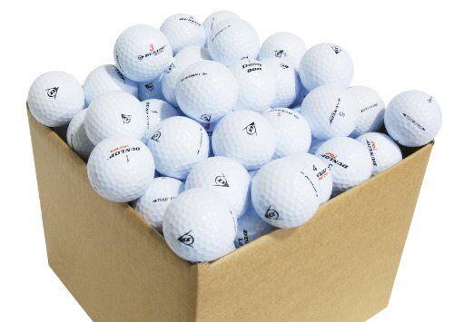 Second Chance Dunlop, Set 100 Palline da Golf, Categoria A Unisex, Bianco